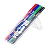 Staedtler Triplus Broadliner Pen 338 Deskset of 4 Assorted