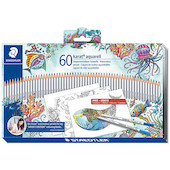 Staedtler Karat Aquarell Pencil Tin 60 Johanna Basford Edition
