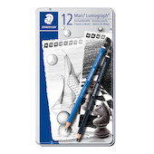 Staedtler Mars Lumograph Black and Blue Sketching Set of 12