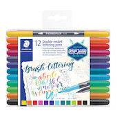 Staedtler Double-Ended Lettering Brush Pens Set of 12