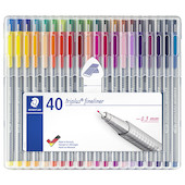 Staedtler Triplus Fineliner Pen 334 Assorted Box of 40