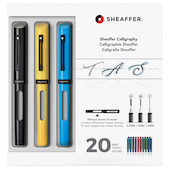 Sheaffer Calligraphy Fountain Pen Maxi Kit Black-Yellow-Blue