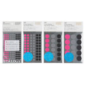 Stalogy Masking Dots Shuffle Space Sakura Pink-Cloud Grey-Night Black