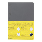 Stalogy 1/2 Year Notebook A5 Dark Grey