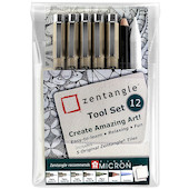 Sakura Pigma Micron Zentangle 12 Piece Set