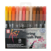 Sakura Koi Colourbrush Brushpen Set of 48