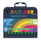 Schneider Link-It Fibrepen Assorted Set of 8