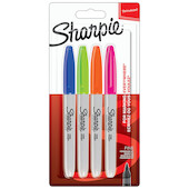 Sharpie Permanent Marker Fine Assorted Set of 4
