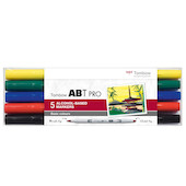 Tombow ABT PRO Dual Brush Pen Set of 5 Basic