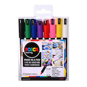 Uni POSCA Marker Pen PC-1MR Ultra-Fine Set of 8 Assorted