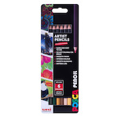 Uni POSCA Pencil Assorted Set of 6 Earth