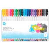 Docrafts Artiste Fineliner Pen Set of 24