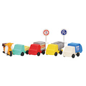Iwako Puzzle Eraser Set Traffic Signs