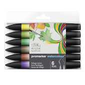 Winsor & Newton Water Colour Markers Set of 6 Foliage Tones