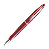 Waterman Carene Ballpoint Pen Red Lacquer with Gold Trim