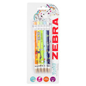 Zebra Cadoozles Pencils Assorted Set of 5