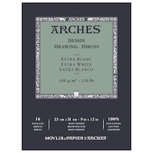 Arches Drawing Pad Extra White 9x12