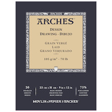 Arches Drawing Pad White 9x12