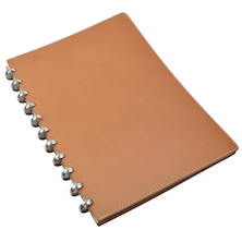 Atoma Pure Disc-Bound Refillable A4 Notebook Natural Leather