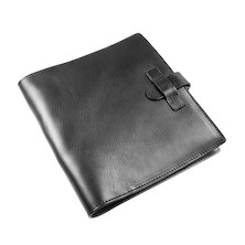 Atoma Pur Leather Folder A5+ Black