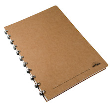 Atoma Amazing Texon Cover Disc-Bound Refillable Notebook Brown A4