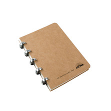 Atoma Amazing Texon Cover Disc-Bound Refillable Notebook Brown A6