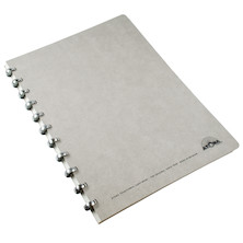 Atoma Amazing Texon Cover Disc-Bound Refillable Notebook Grey A4