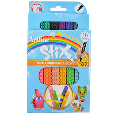 Artline STIX Build and Draw Colouring Pen Set of 16
