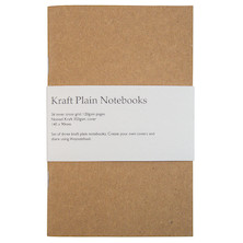 Back Pocket Kraft Notebooks Set of 3