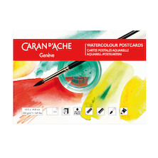 Caran d'Ache Watercolour Colouring Postcards