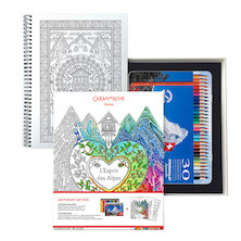 Caran d'Ache Espirit des Alpes and Prismalo Colouring Pencils Gift Set