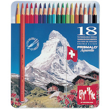Caran d'Ache Prismalo Colouring Pencils Tin of 18