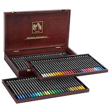 Caran d'Ache Museum Aquarell Watercolour Pencil Box of 76 Assorted + 3 Technalo + 1 Grafwood