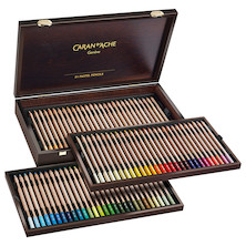 Caran d'Ache Pastel Pencil Wooden Box of 84