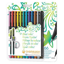 Chameleon Fineliner Set of 12 Assorted Bright