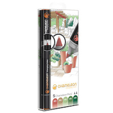 Chameleon Color Tones Pen Set of 5 Assorted Nature