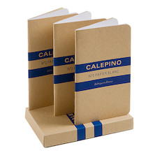Calepino No.3 Notebook Blank Set of 3
