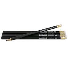 Calepino Black Wooden Pencils Set of 6