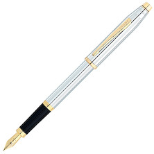 Cross Century II Fountain Pen Medalist Chrome with Gold Trim