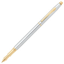 Cross Classic Century Fountain Pen Medalist Chrome with Gold Trim