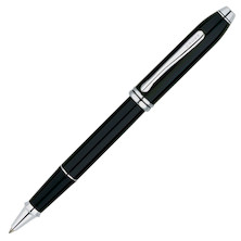 Cross Townsend Selectip Rollerball Pen Black Lacquer Rhodium Trim