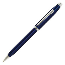 Cross Century II Ballpoint Pen Blue Lacquer with Rhodium Trim
