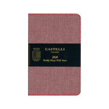 Castelli Harris Pocket Diary 2020 Maple Red