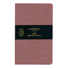 Castelli Harris Medium Diary 2020 Maple Red