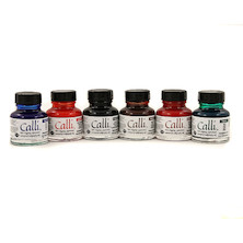 Daler-Rowney Calligraphy Ink 29.5ml Set of 6