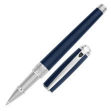 S.T. Dupont Line D Medium Rollerball Pen Guilloche Blue