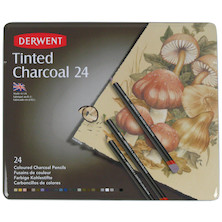 Derwent Tinted Charcoal 24 Piece Tin