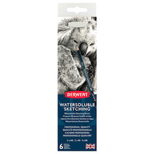Derwent Watersoluble Graphite Sketching Pencil Tin of 6