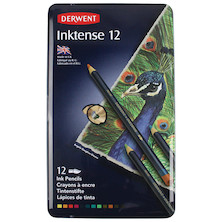 Derwent Inktense Coloured Pencils Tin of 12