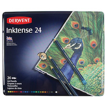 Derwent Inktense Coloured Pencils Tin of 24